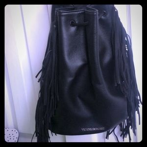 Vitoria secret drawstring fringe bag